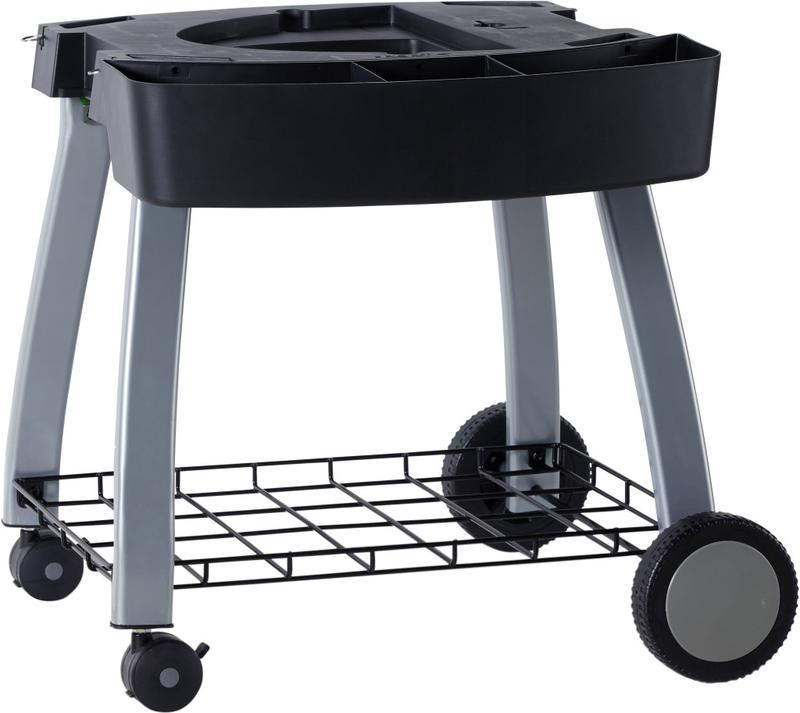 Ziegler & Brown BBQ Twin Grill Chilli Red Mobile Cart Bundle