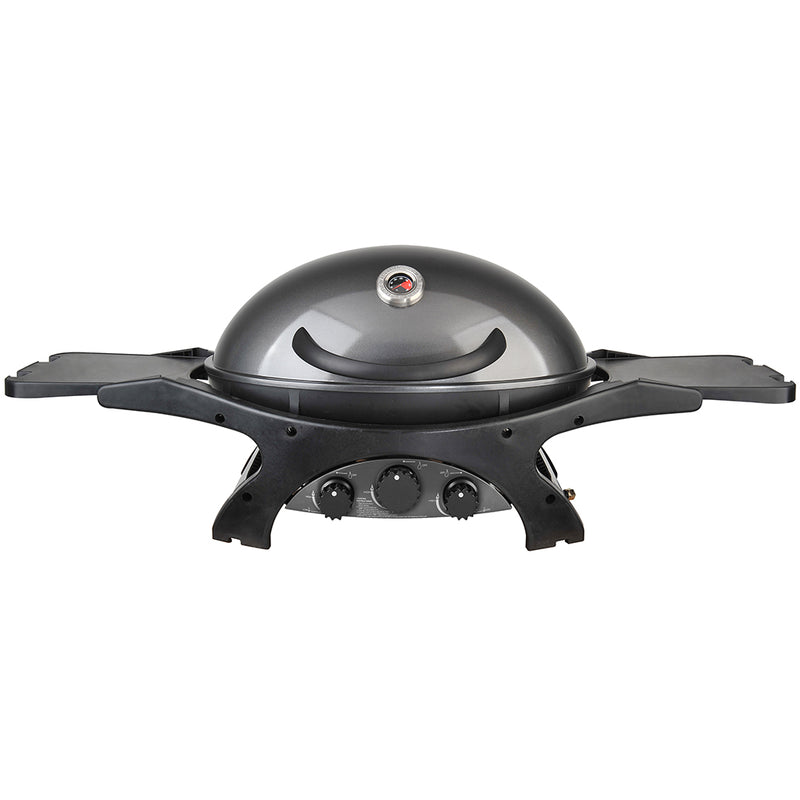 Ziegler & Brown BBQ Triple Grill Gunmetal Grey