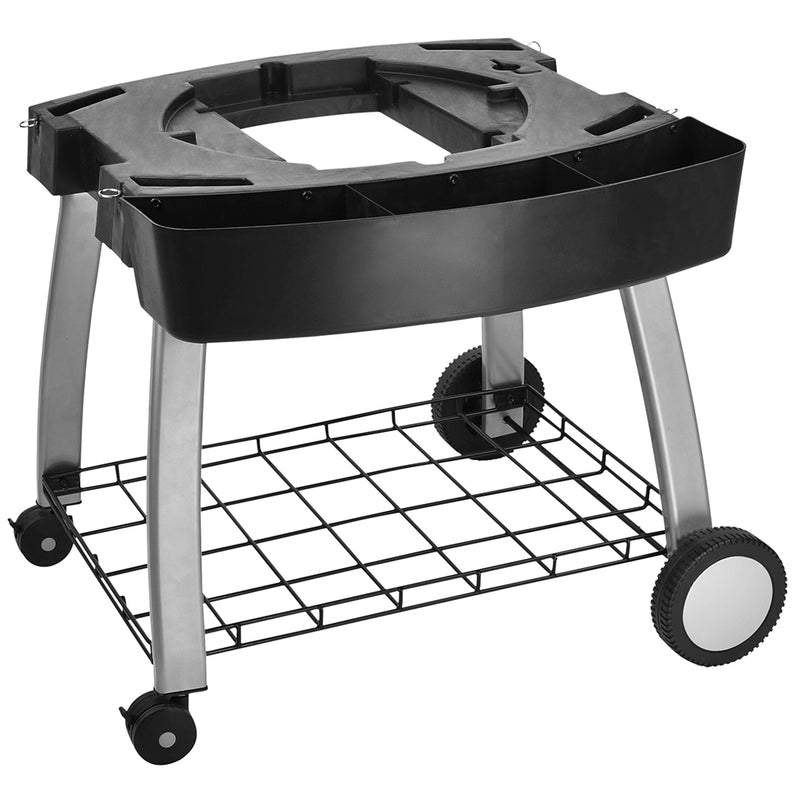 Ziegler & Brown BBQ Triple Grill Fixed Mobile Cart