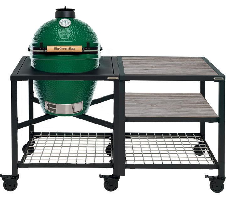 Big Green Egg Large Big Green Egg (LARGE) - Modular Frame Nest Extended Distressed Acacia Bundle