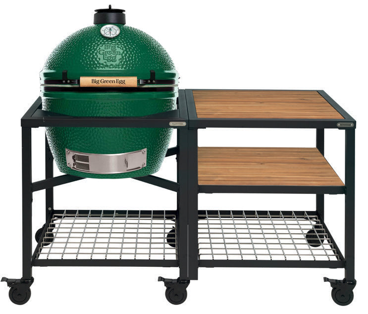 Big Green Egg XLarge Big Green Egg (XLARGE) - Modular Frame Nest Extended Acacia Bundle