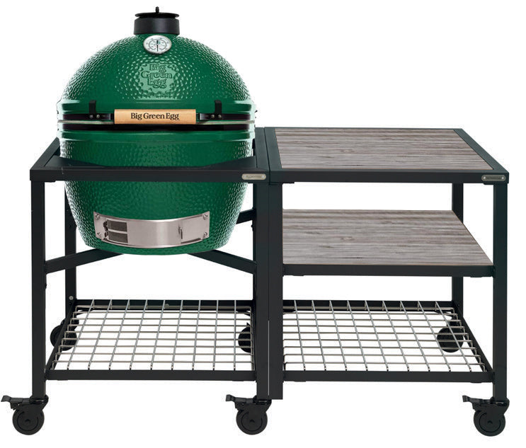 Big Green Egg XLarge Big Green Egg (XLARGE) - Modular Frame Nest Extended Distressed Acacia Bundle