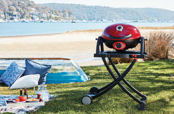 Ziegler & Brown BBQ Portable Chilli Red