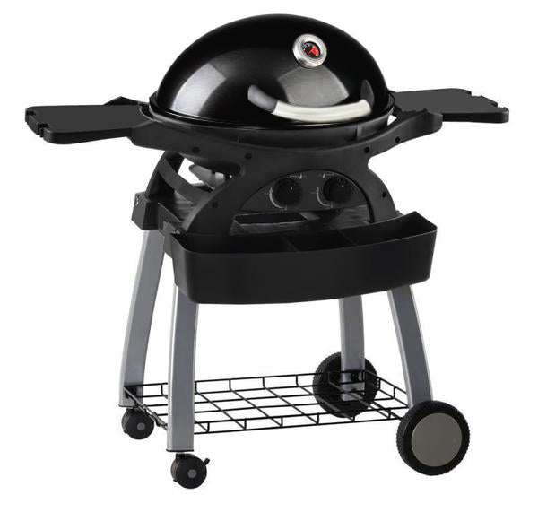 Ziegler & Brown BBQ Twin Grill Black Limited Edition Mobile Cart Bundle