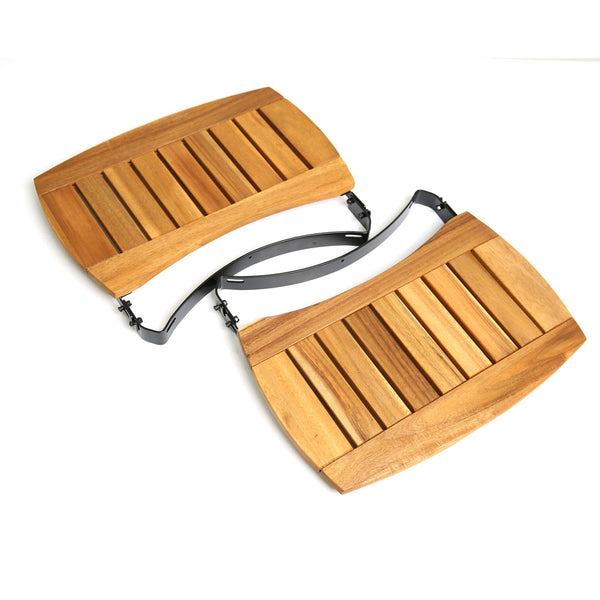 "Big Green Egg 17"" EGG Mates (MEDIUM) (Set of 2, Acacia wooden slat design)"