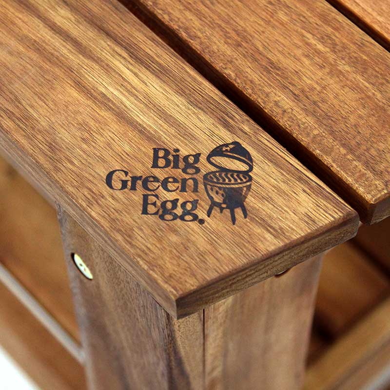 Big Green Egg Solid Acacia Hardwood Table for Large EGG
