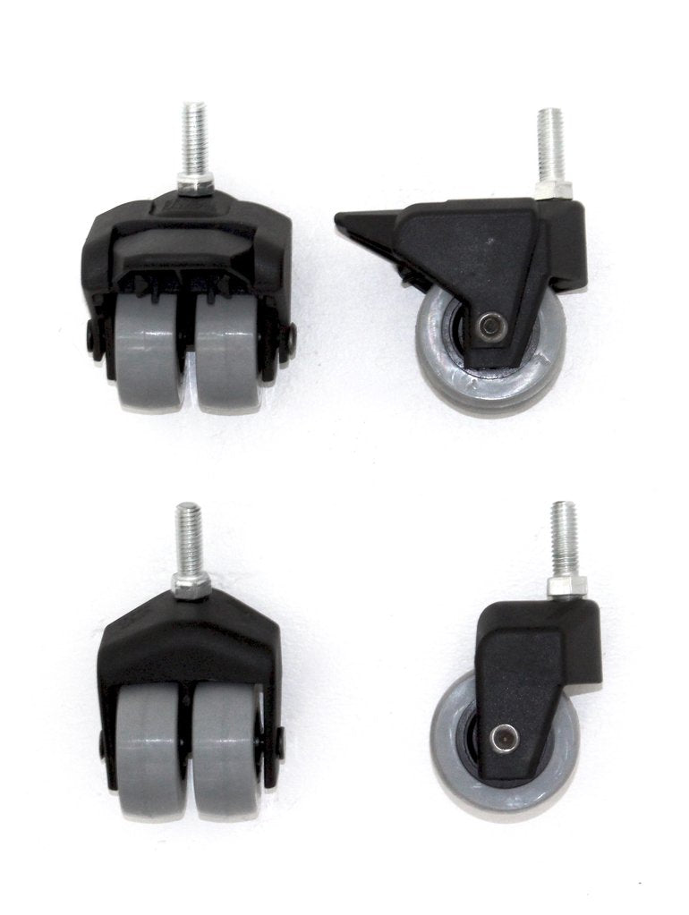 "Big Green Egg Locking Caster Kit, 2""/5cm, 2 Locking, 2 Non-Locking for Wooden Tables"