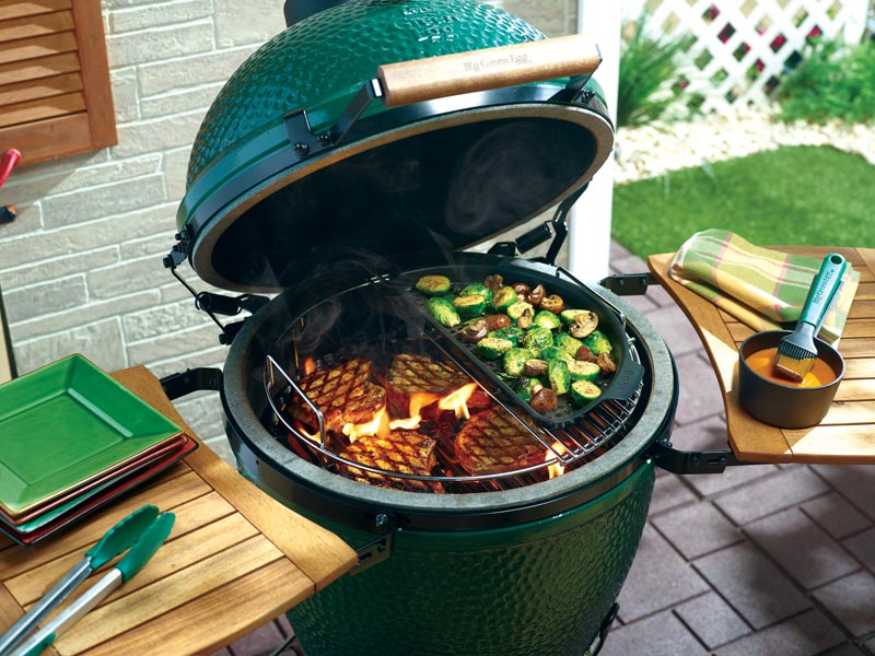Big Green Egg EGGspander System, XLarge, Perforated Half Grid (XLARGE)