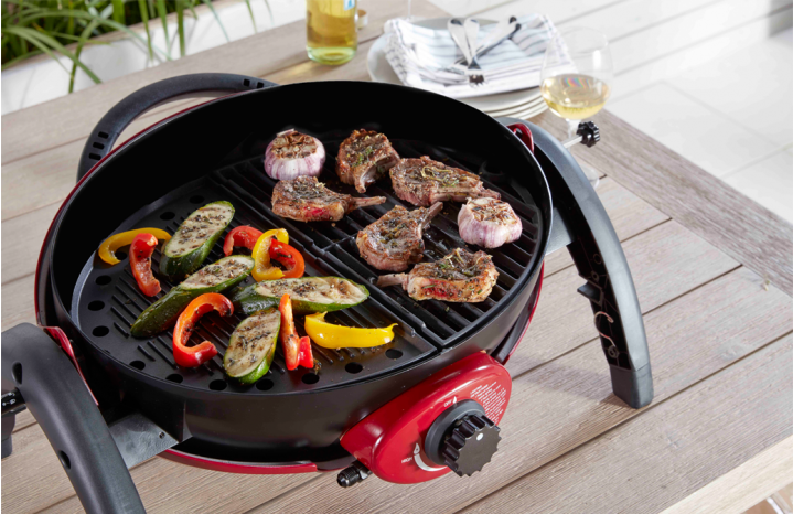 Ziegler & Brown Portable Grill Half Cast Iron Grill