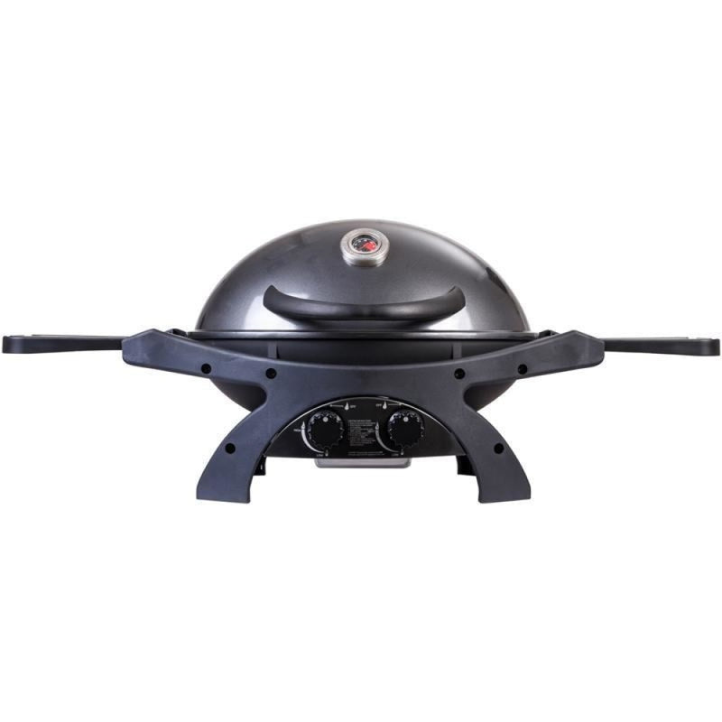 Ziegler & Brown Bbq Twin Grill Gunmetal Grey Mobile Cart Bundle 9036