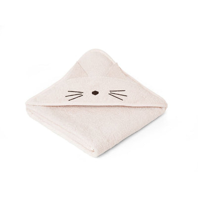 Liewood - Augusta Hooded Towel - Cat Sweet Rose