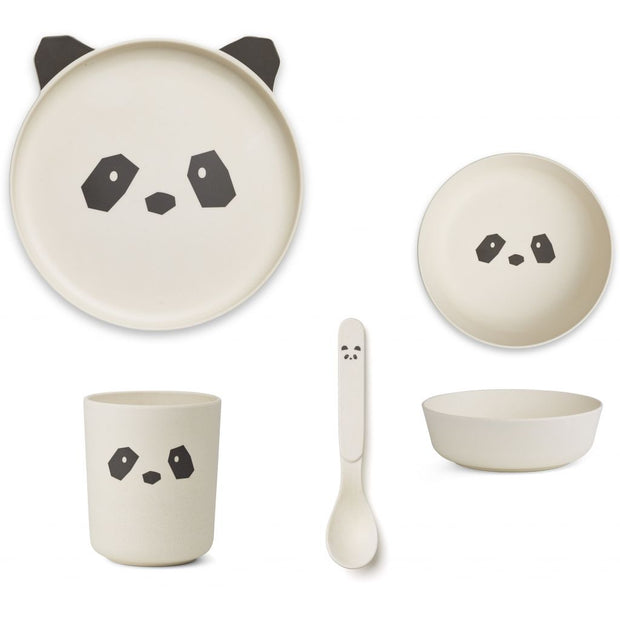 Bamboo Tableware Box Set - Panda - LIEWOOD
