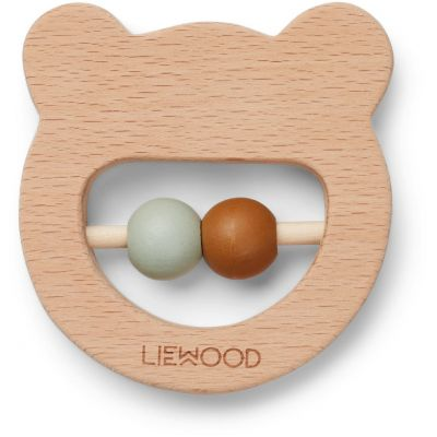 Liewood - Ivalu Wood Teether - Mr Bear Natural