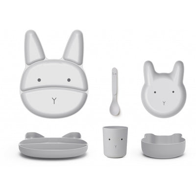 Jules Junior Bamboo Set - Rabbit Dumbo Grey - LIEWOOD