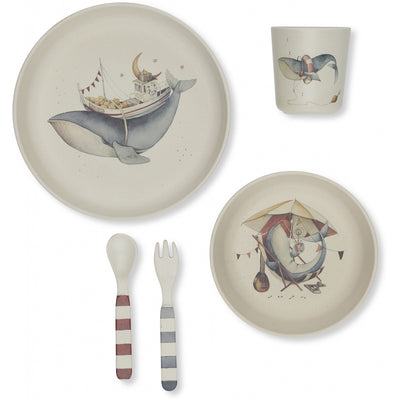 Whale Dinner Set Konges Slojd