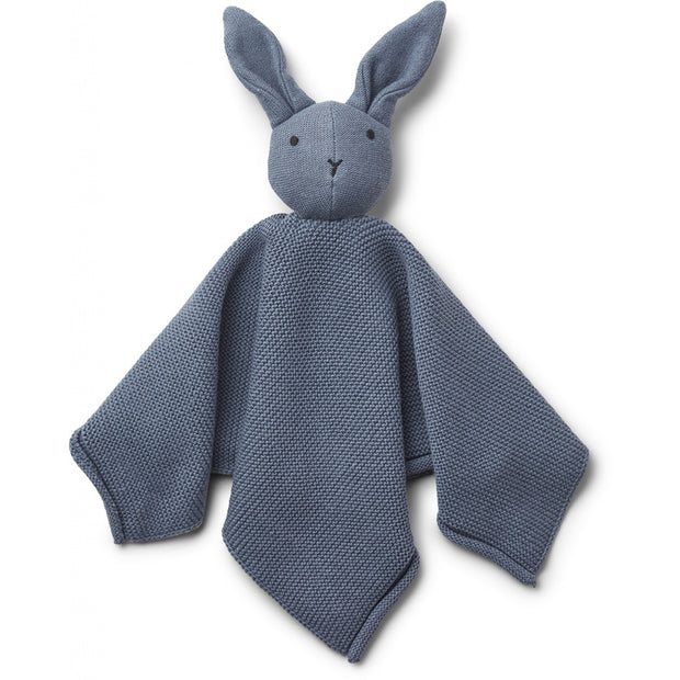 Milo Knit Cuddle Cloth Rabbit Blue Wave LIEWOOD