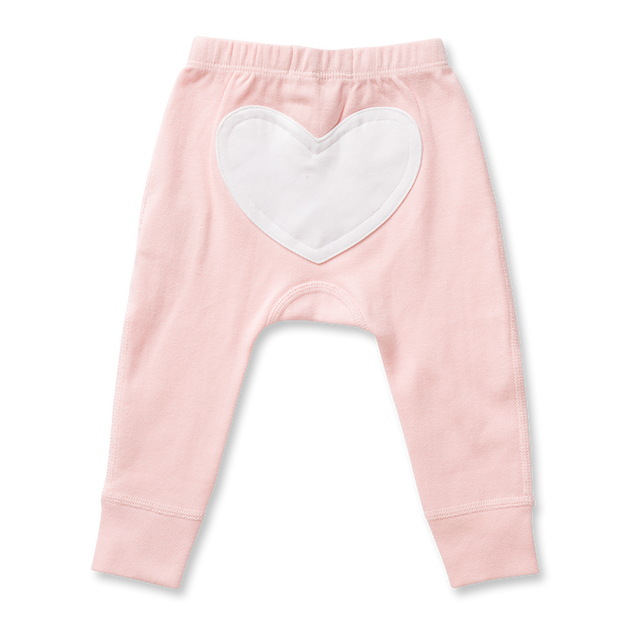 Sapling Child - Floral Pink Heart Pants