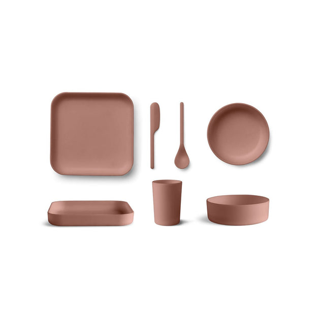 Liewood - Aiko Bamboo Set - Dark Rose