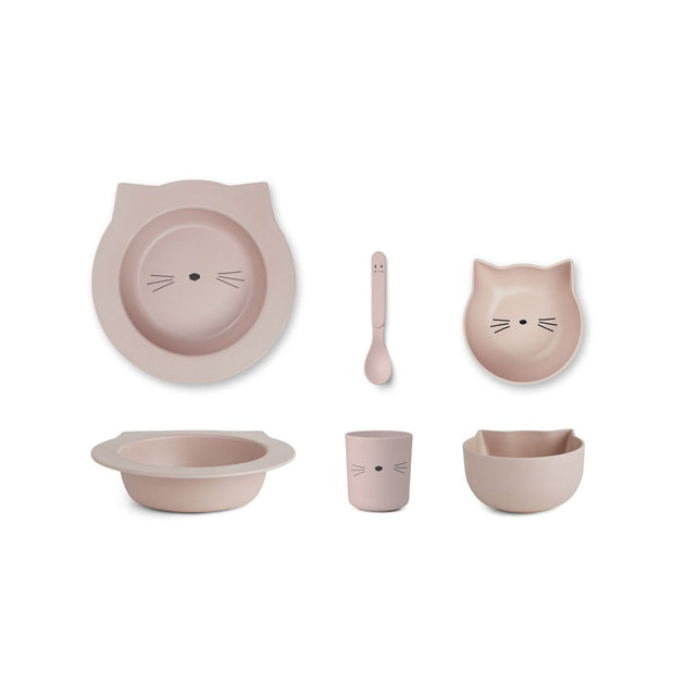 Liewood - Barbara Bamboo Baby Set - Cat Rose