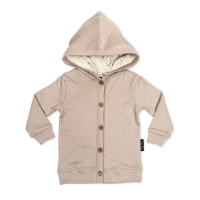 Aster and Oak - Mushroom Hooded Lightweight Cardigan