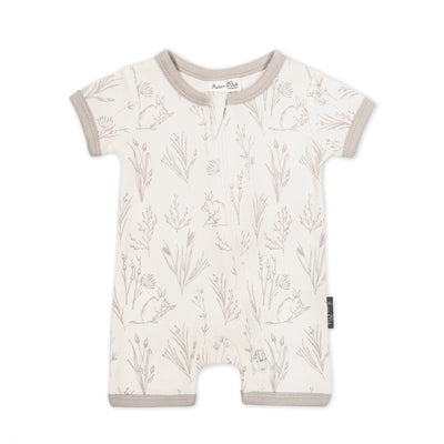 Aster and Oak - Short Zip Romper Bilby
