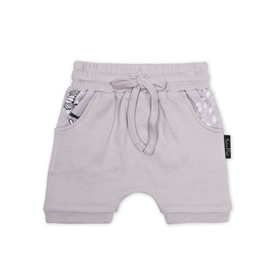Butterfly Iris Harem Shorts Aster and Oak