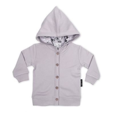 Aster and Oak - Butterfly Iris Hooded Lightweight Cardigan