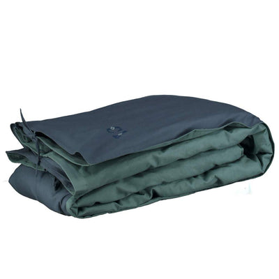 Reversible Duvet Cover - Single - Midnight Teal - Camomile London