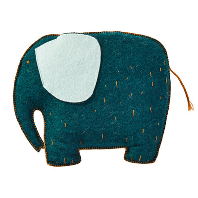 Pasu Cushion Elephant - Duck Blue - Muskhane