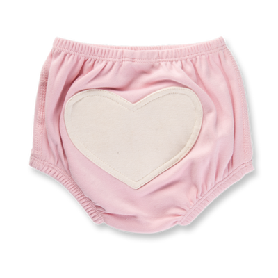 Sapling Child - Dusty Pink Heart Bloomers