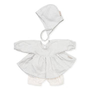 Cam Cam Copenhagen - Doll's Clothing Set & Bonnet - Grey Wave