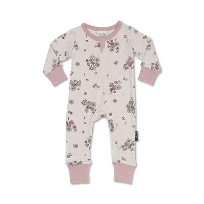 Aster and Oak - Vintage Floral Zip Romper