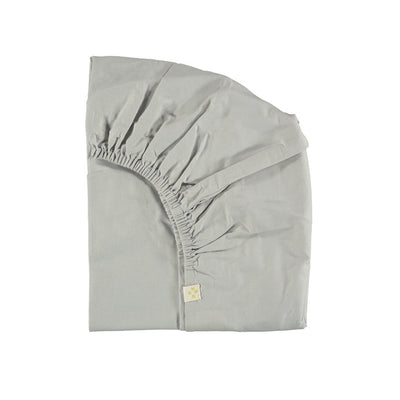 Fitted Sheet - Cot - Feather Grey - Camomile London