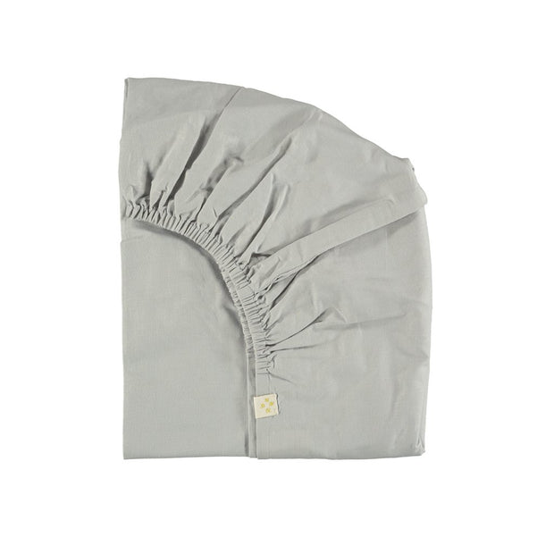 Camomile London - Fitted Sheet Single - Feather Grey