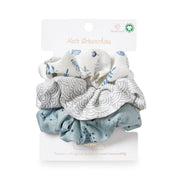 Hair Scrunchies Set of 3 Print Mix Petrol Cam Cam Copenhagen