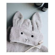 Liewood - Augusta Hooded Towel - Rabbit Dumbo Grey