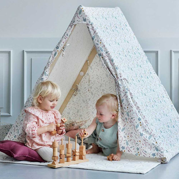 2 in 1 Play Gym/ Tent Pressed Leaves Rose Cam Cam Copenhagen