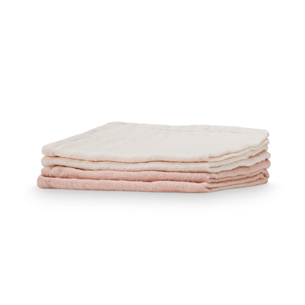 Muslin Washcloths 4 Pack Mix Nude/ Blush Cam Cam Copenhagen
