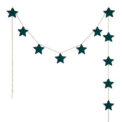 Mini Star Garland - Teal Blue - Numero 74