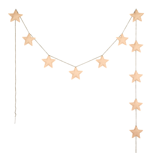 Mini Star Garland - Pale Peach - Numero 74