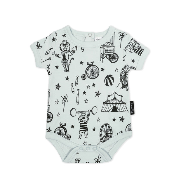 Aster and Oak - Mint Circus Onesie