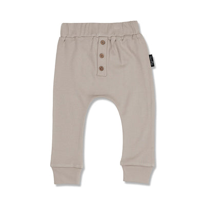 Aster and Oak - Taupe Button Slouch Pant