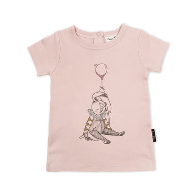 Aster and Oak - Bunny Circus Print Tee Peach