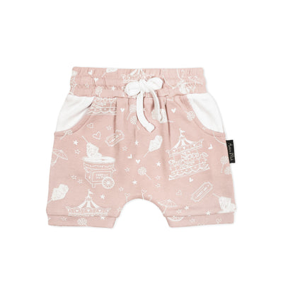 Aster and Oak - Peach Circus Harem Shorts