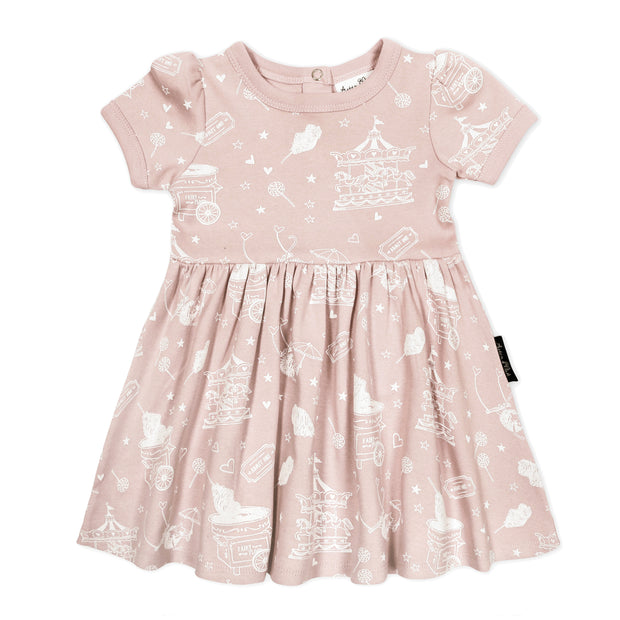 Aster and Oak - Peach Circus Skater Dress