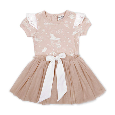Peach Circus Tutu Dress Aster and Oak