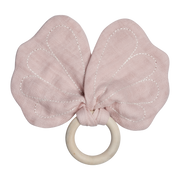 Teether Butterfly Mauve Fabelab