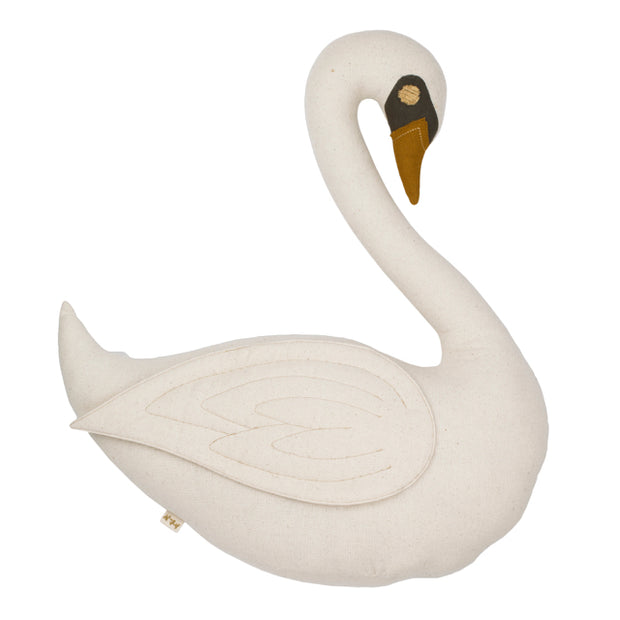Vicky Swan Cushion - Natural - Numero 74