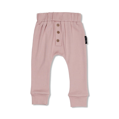 Aster and Oak - Rose Button Slouch Pant