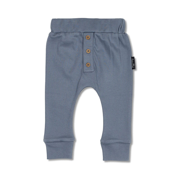 Aster and Oak - Navy Button Slouch Pant